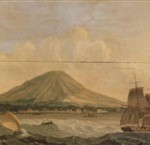 Shipping before ternate the Moluccas, Oil on cancas, 38 x 47 cm