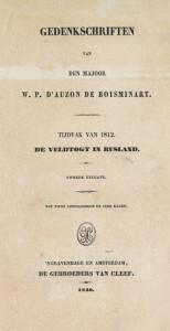 De veldtogt in Rusland, door W.P. d'Auzon de Boisminart